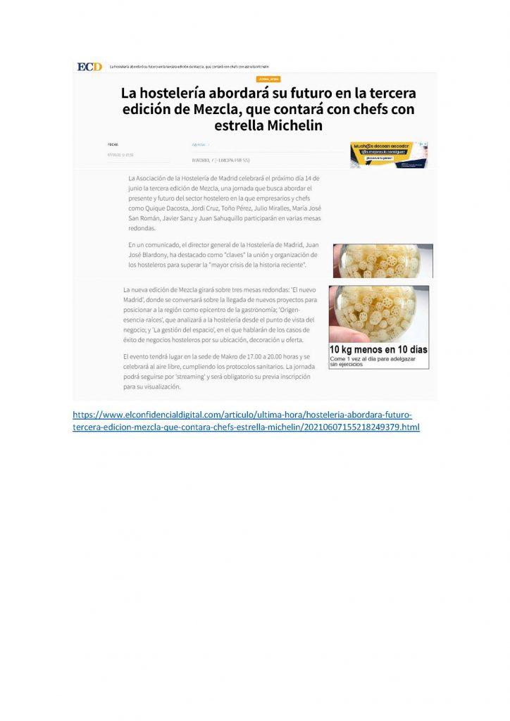 La hostelería abordará su futuro en la tercera edición de Mezcla