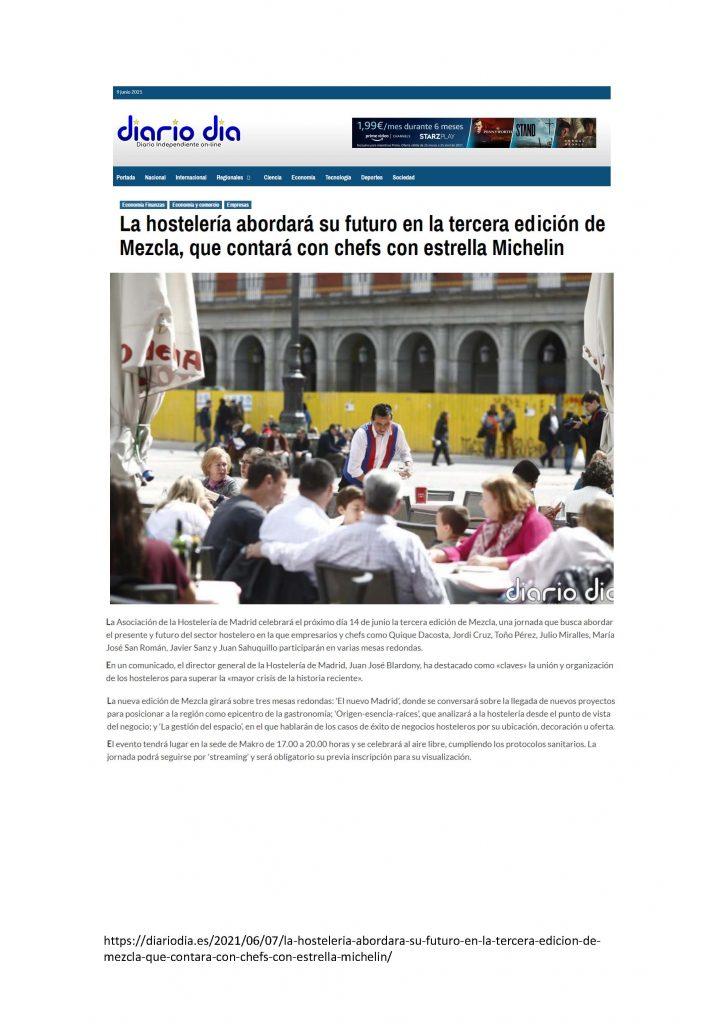 La hostelería abordará su futuro en la tercera edición de Mezcla que contará con dos chefs estrella Michelín