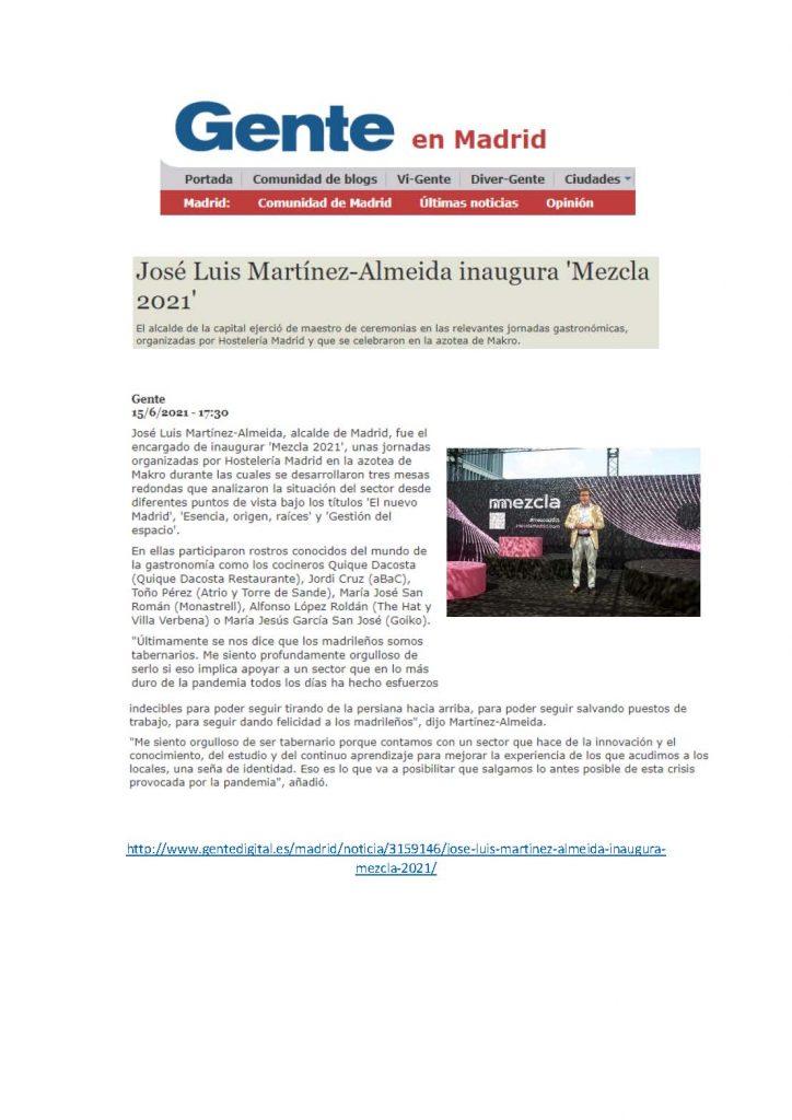 José Luis Martínez-Almeida inaugura Mezcla 2021
